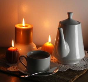Candle-light-Frühstück